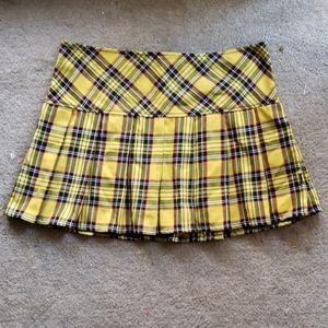 Tripp Yellow Plaid Mini Skirt
